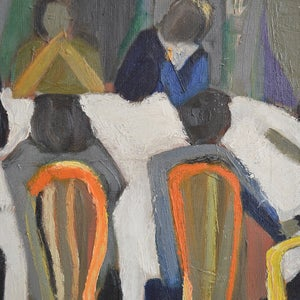 Image of 1948, Belgian, Oil Painting, 'The Dining Room.' Monique Percival
