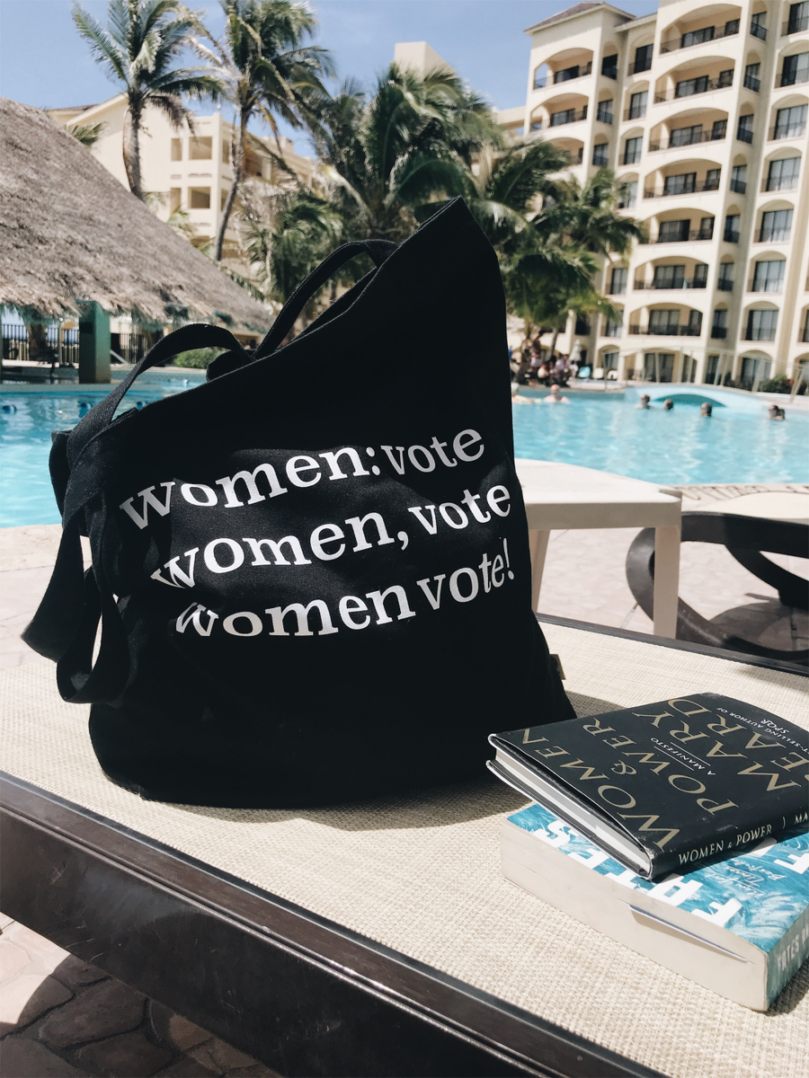 Image of women vote tote bag