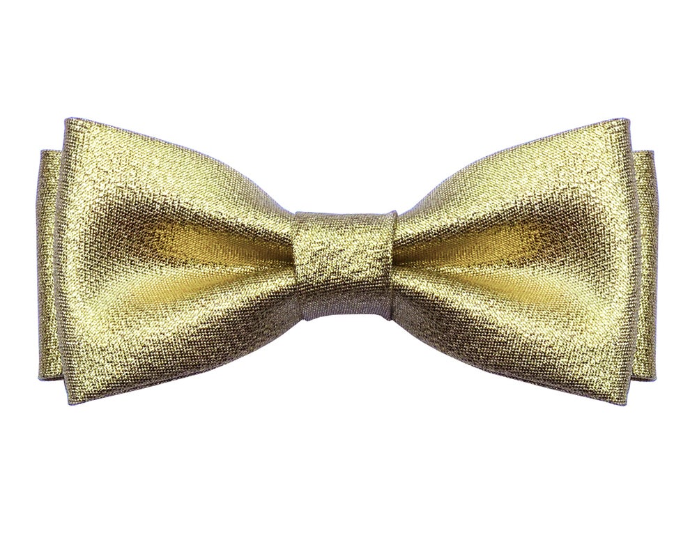 Image of Gold pre-tied bow tie