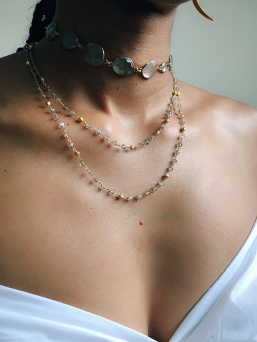 Image of DAY LIGHT • Labradorite Double Layer Necklace