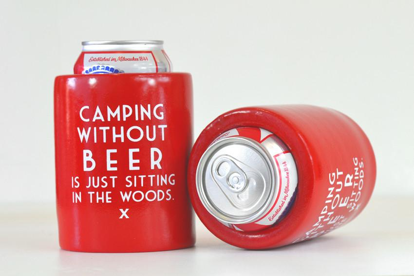 Image of Camping Can Koozie