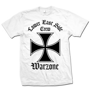"Image of WARZONE ""Lower East Side Crew"" White T-Shirt"