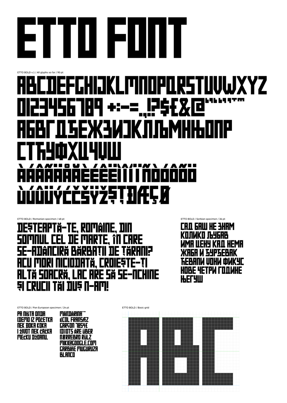 Image of ETTO FONT