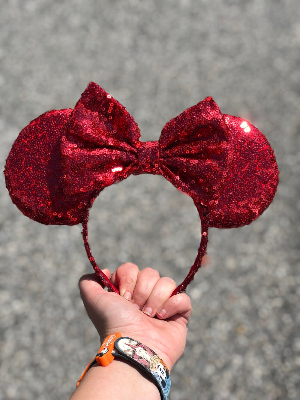 Image of Ruby Red Sequin Ears