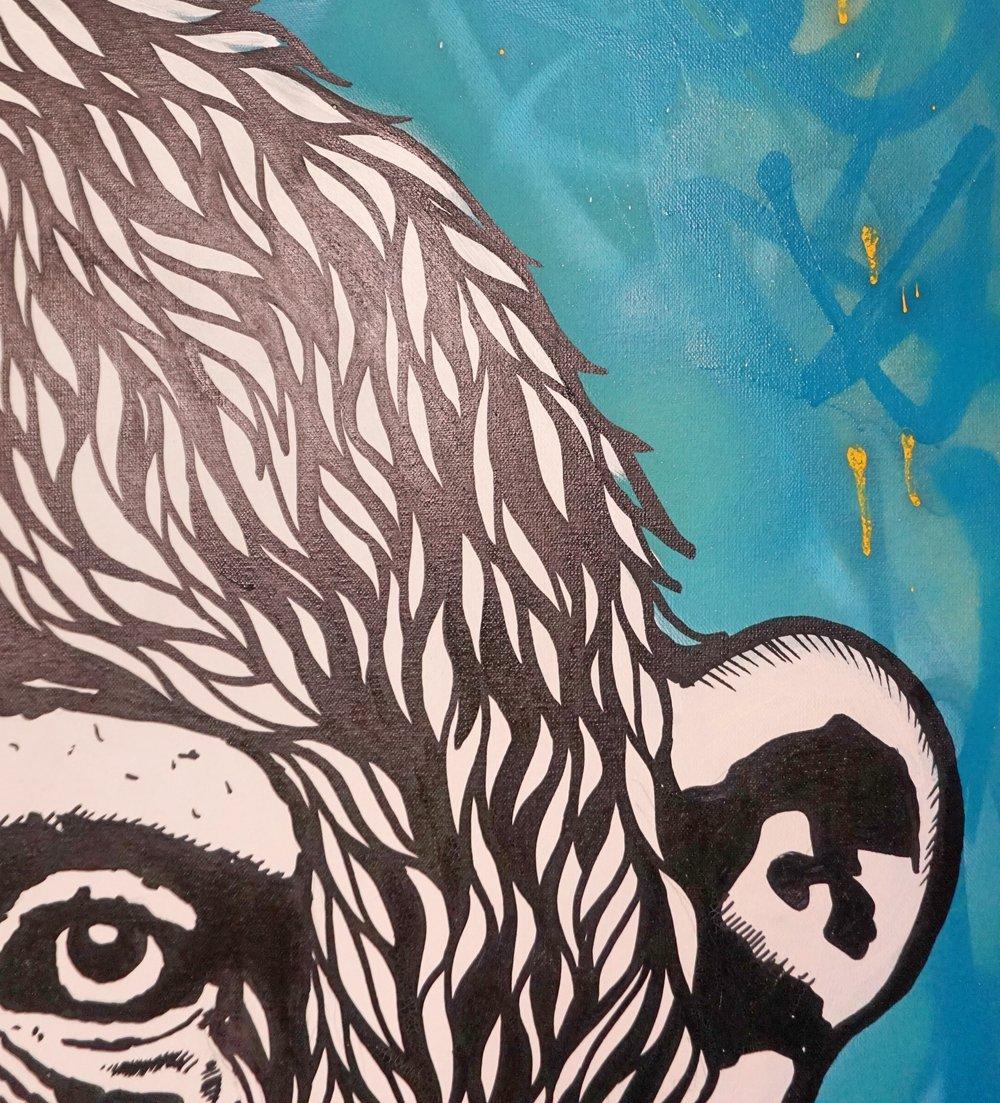 'chimp peace blue'