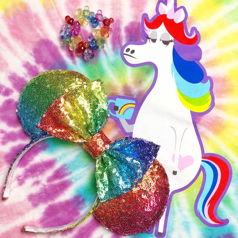Image of Rainbow Unicorn Sequin Ears