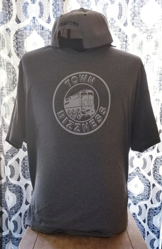 Image of Graphite Heather/ Town Bizzness Tee.