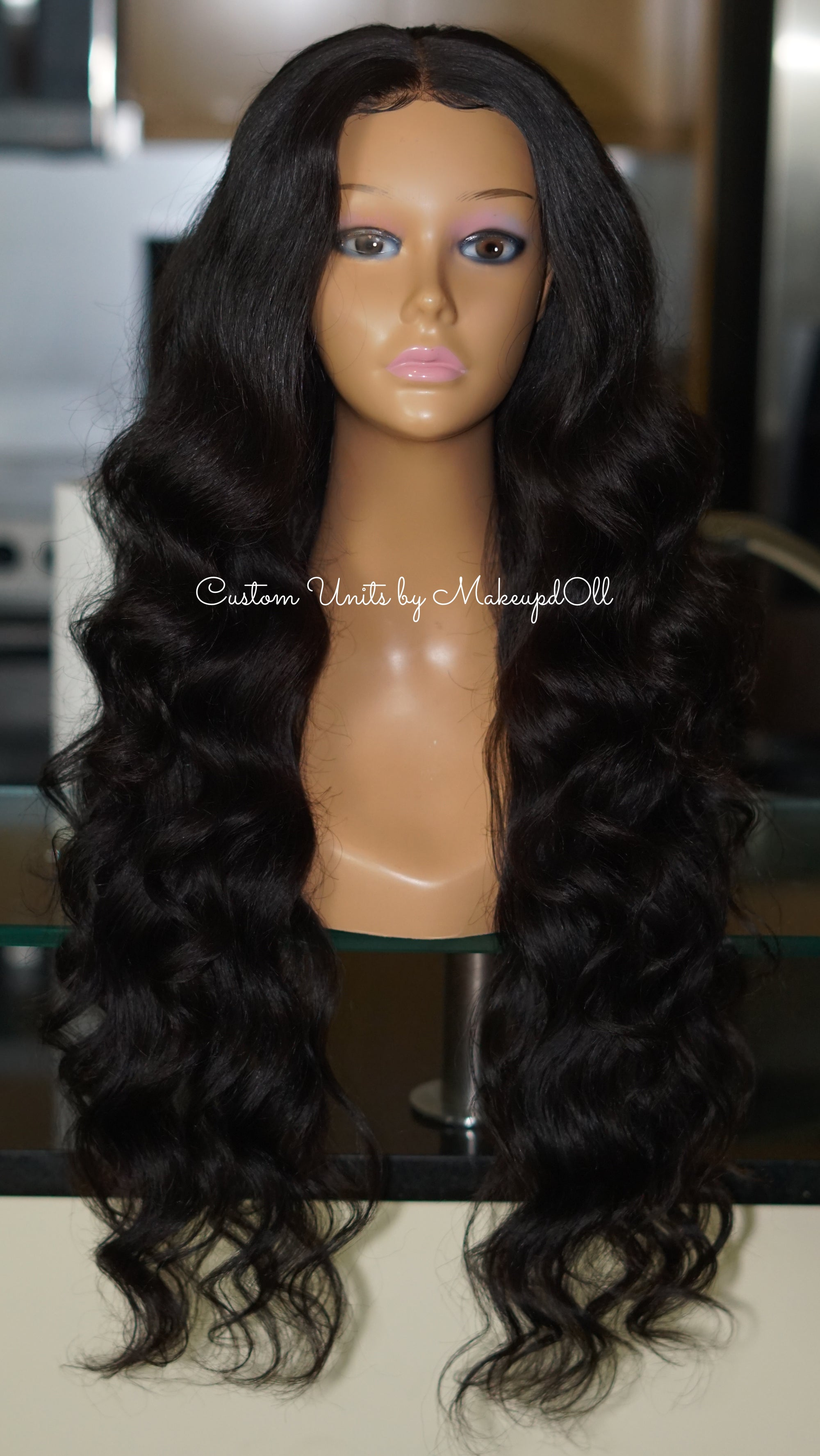 "Image of Brazilian Body Wave 28"" Custom Closure Wig! (SUPER FULL)"