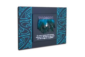 Image of Contemporary miniature kākahu turquoise