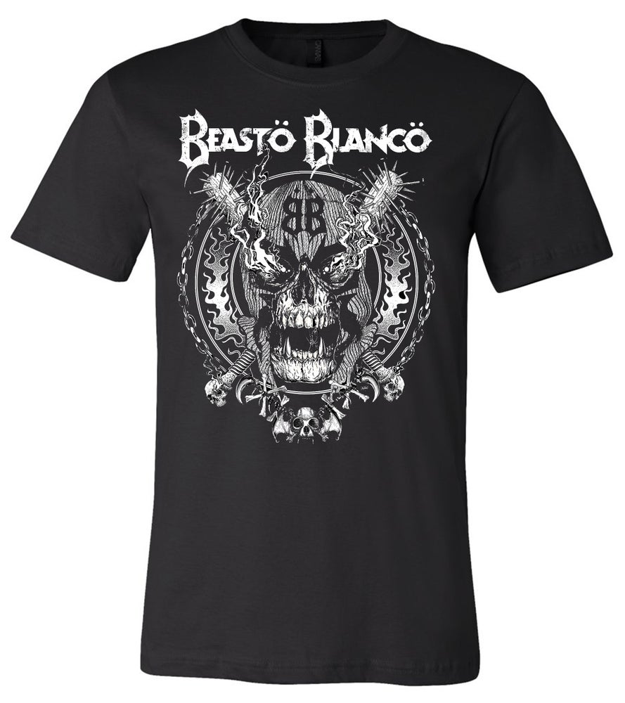 "Image of OFFICIAL - BEASTO BLANCO - ""SKULL BATS"" UNISEX BLACK SHIRT"