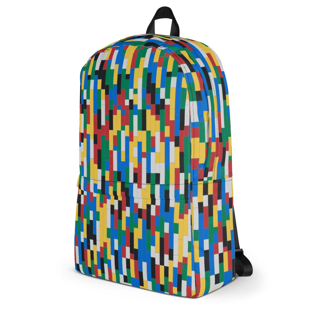 Image of Colorful Building Blocks Graphic Backpack