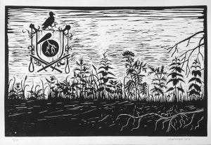 Image of Block print - Den Sorte Ridder, print 3