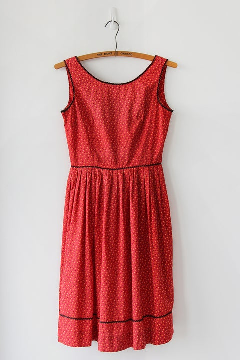 Image of Betty Barclay 1950s Cotton Day Dress