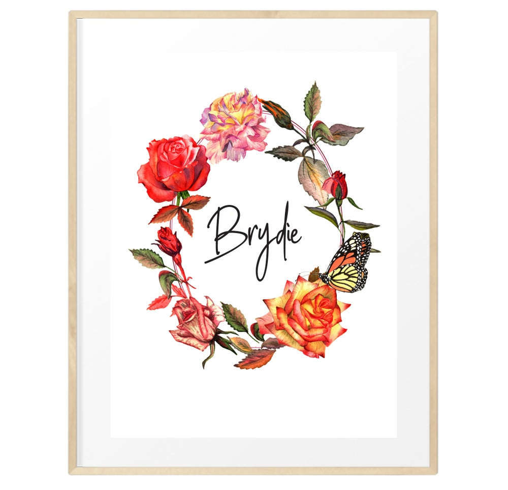 Image of Personalised rustic florals