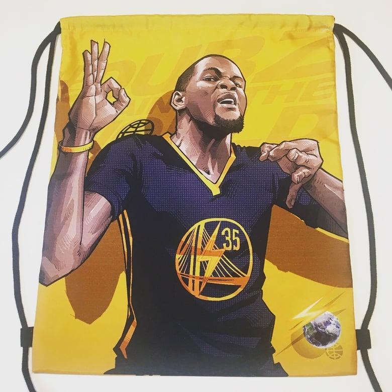 "Image of ""KD/STEPH GOLD"" DRAWSTRING BAG"