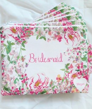 Image of Bespoke Bride and Wedding Party Pouches