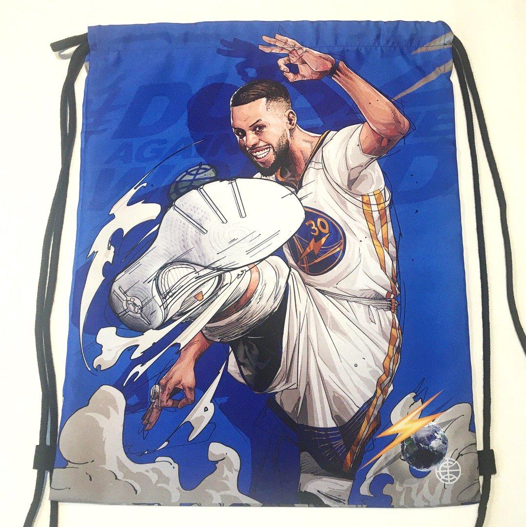 "Image of ""STEPH/KD BLUE"" DRAWSTRING BAG"