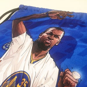 "Image of ""STEPH/KD BLUE"" DRAWSTRING BAG"