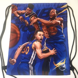 "Image of ""GSW BLUE"" DRAWSTRING BAG"