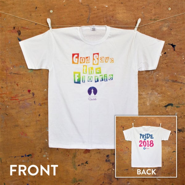 Image of God Save The Florrie T-Shirt (Pride 2018)