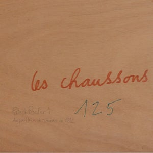 Image of 1992, Acrylic Painting, 'Les Chaussons' Patrick Paufert