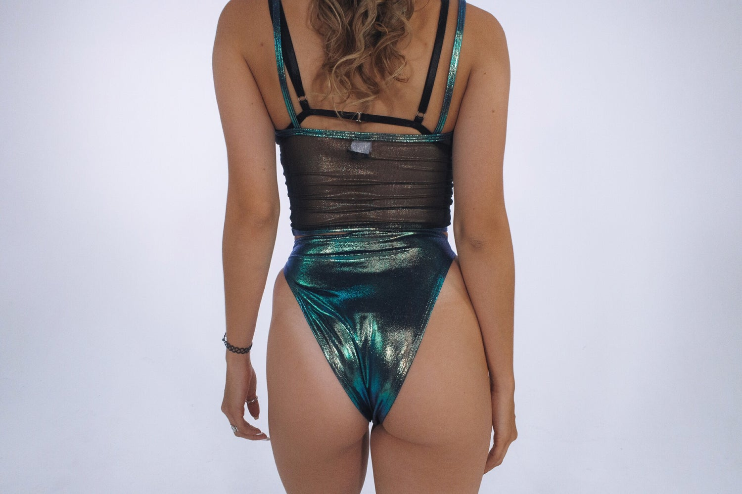 Image of J Valentine Black Opal Lace Up Bottoms