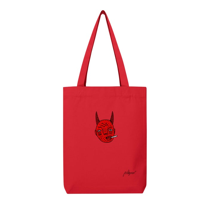 Image of Red Devil Tote Bag by Polly Nor