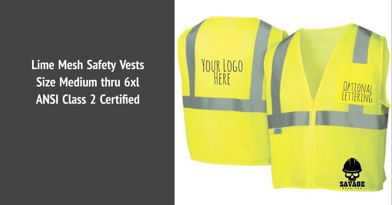 Image of Custom lime mesh safety vest