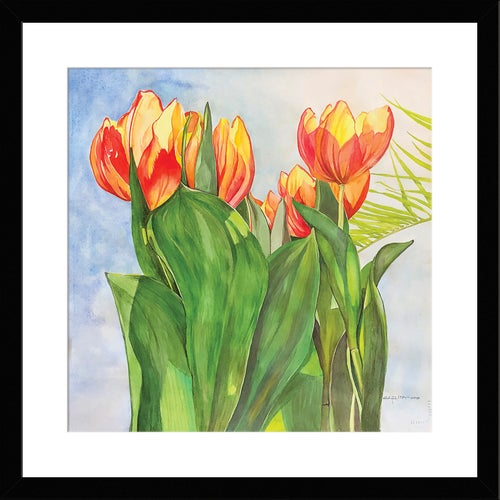 Image of TULIPS and PALM (Unframed)