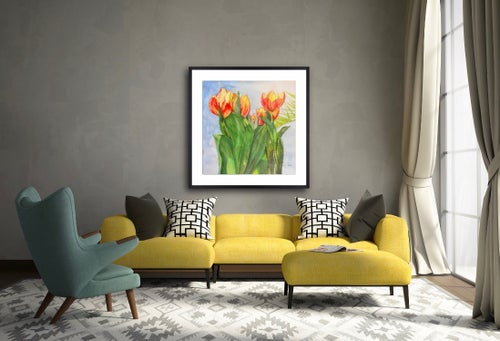 Image of TULIPS and PALM