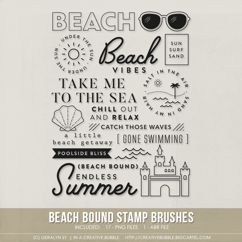 Image of Beach Bound Stamp Brushes (Digital)