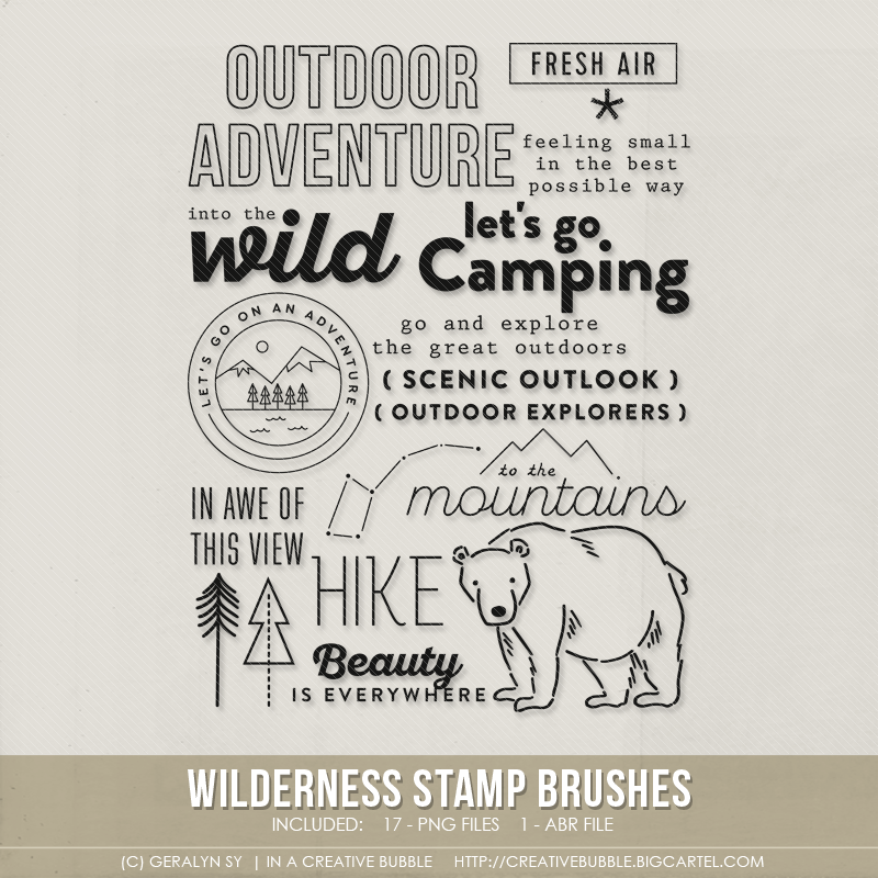 Image of Wilderness Stamp Brushes (Digital)