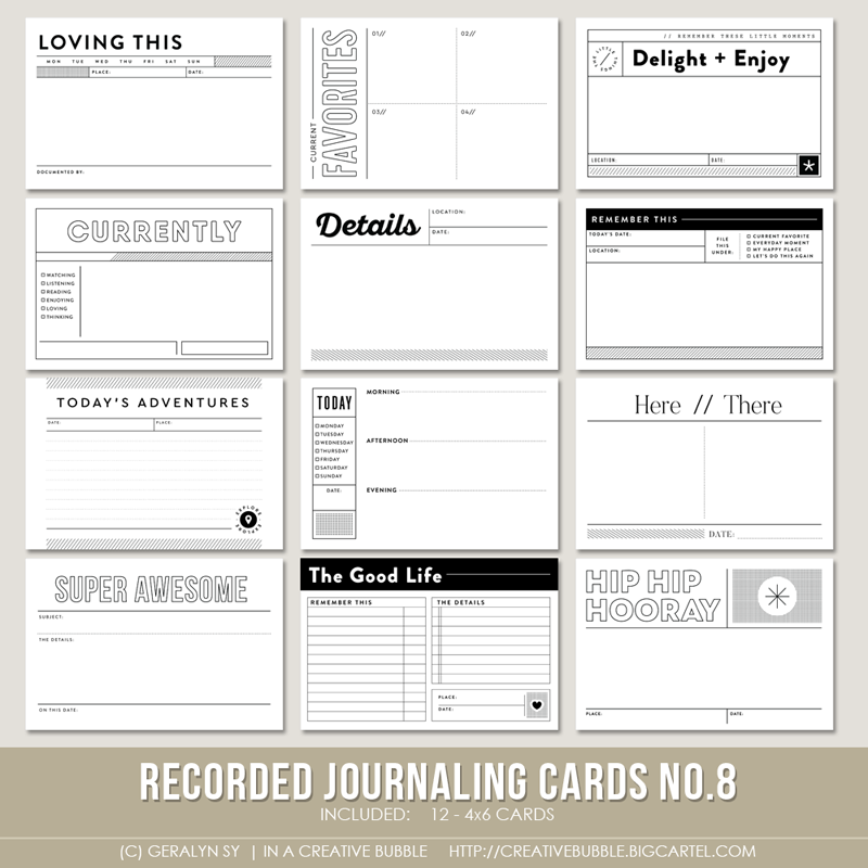 Image of Recorded Journaling Cards No.8 (Digital)