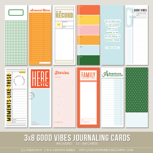 Image of 3x8 Good Vibes Journaling Cards (Digital)