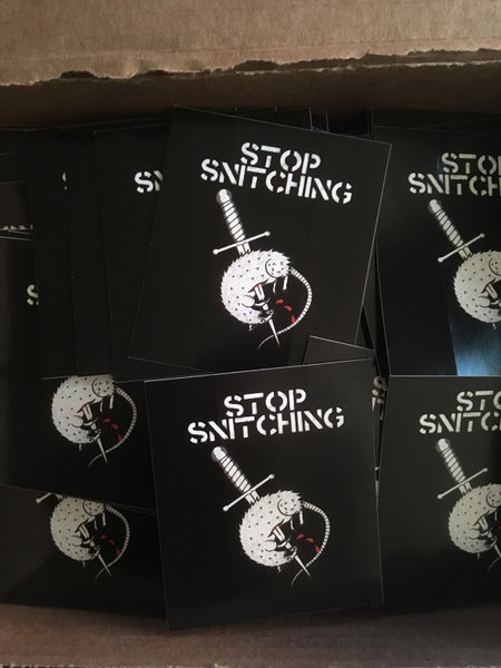 "Image of ""Stop Snitching"" - Sticker"