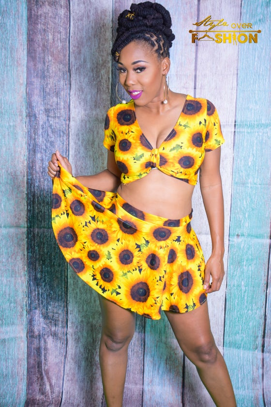 Image of Sunflower (Skirt suit)