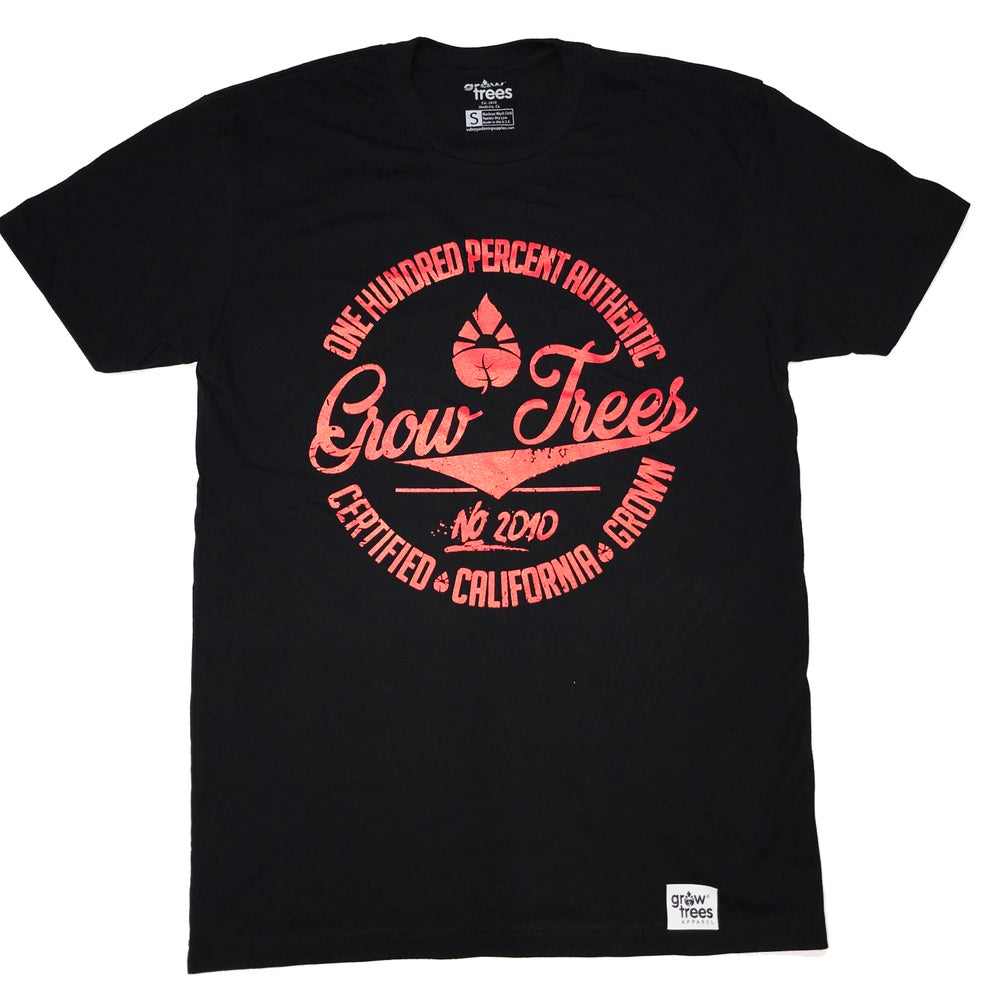 "Image of Grow Trees ""One Hundred Percent"" Black/Red"