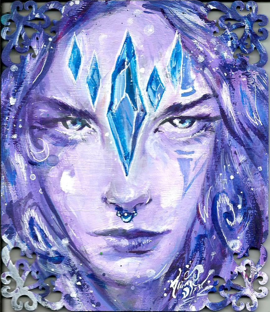 "Image of ""Crystal Keeper"" Original Painting"