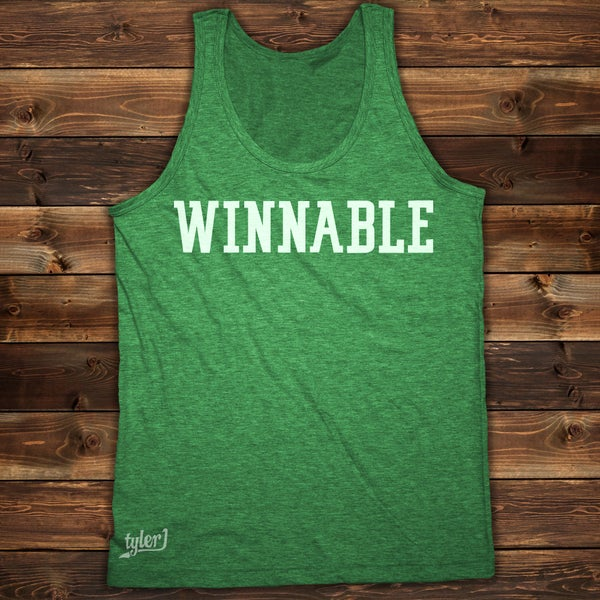 Image of Winnable Tank - Vintage Green
