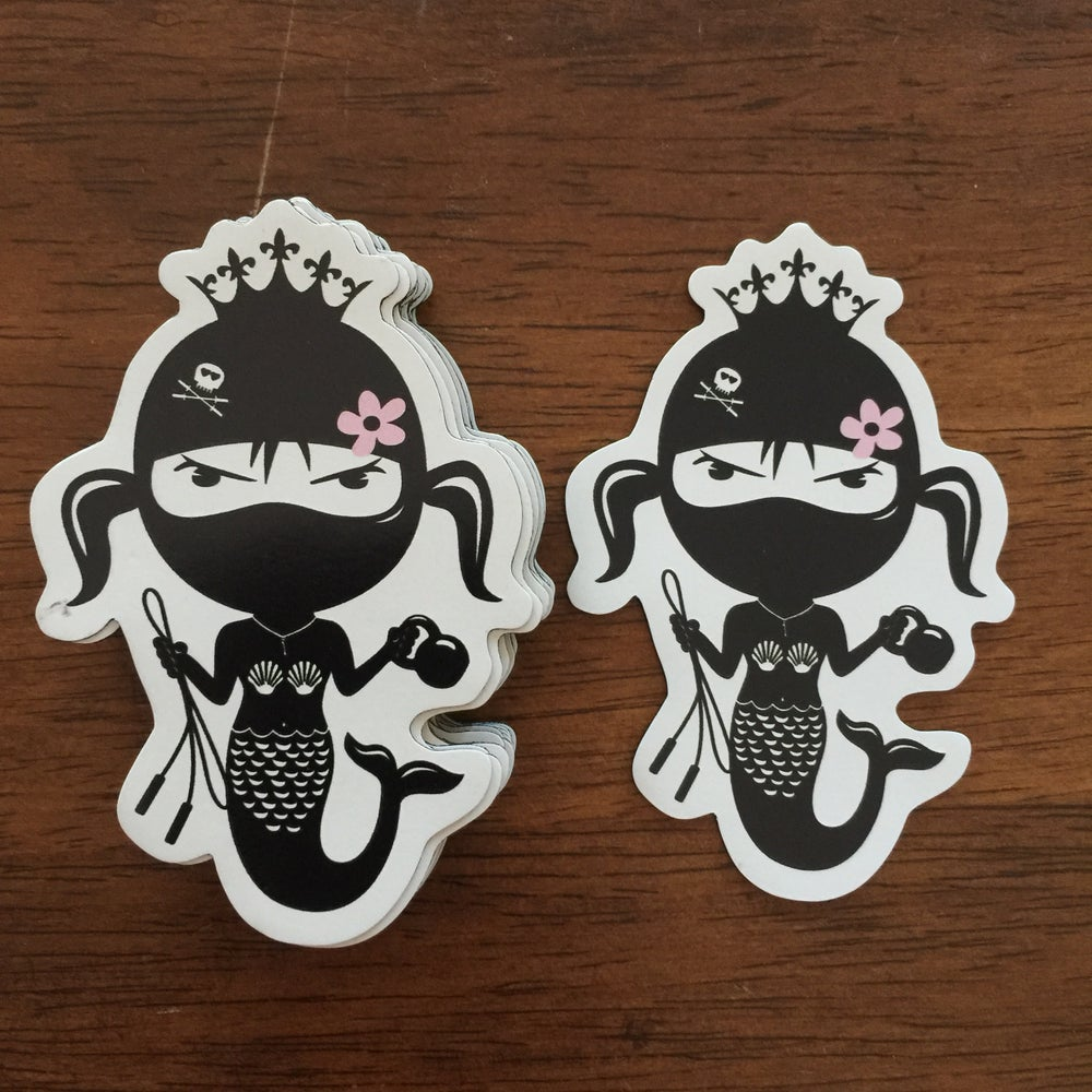 """Image of New Mermaid Magnets 3"""" white"""