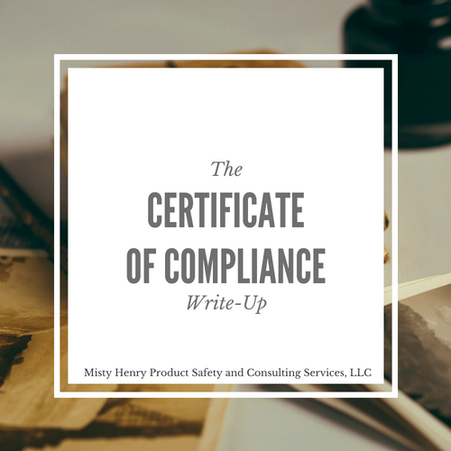 Image of Certificate of Compliance Write-Up