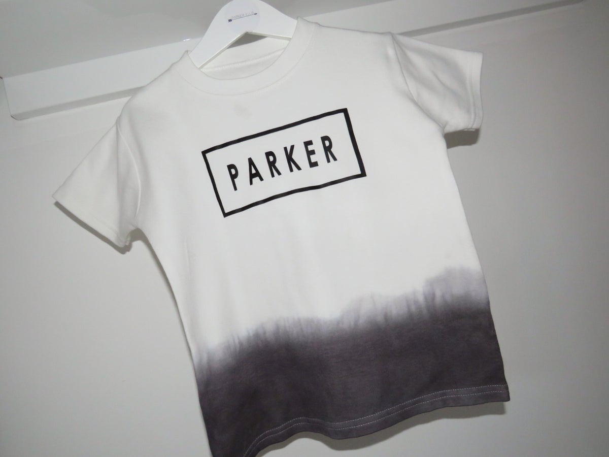 Image of Dip Dye Personalised Tee