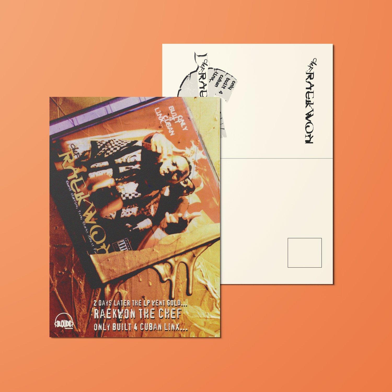 "Image of Raekwon, Only Built 4 Cuban Linx Gold 4x6"" Postcard"