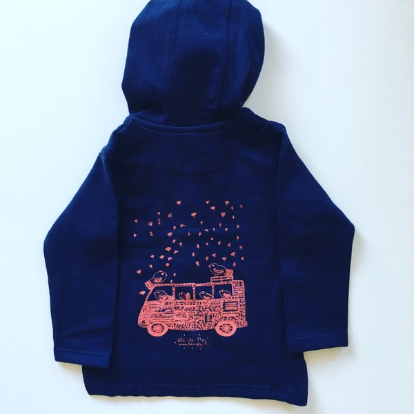 Image of Kids Hoodie *Bus & Birds travelling*