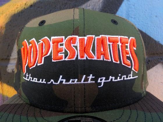 Image of Pope Skates Thou Shalt Grind Hat Camo