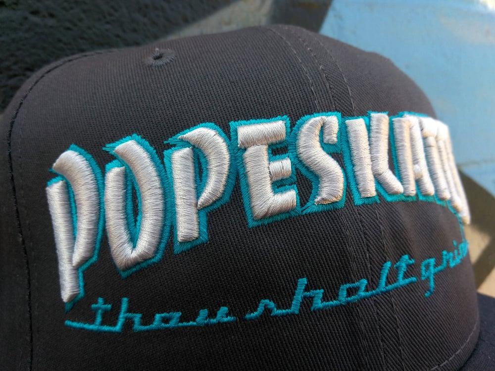 Image of Pope Skates Thou Shalt Grind Hat Grey