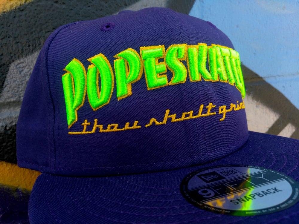 Image of Pope Skates Thou Shalt Grind Hat Purple