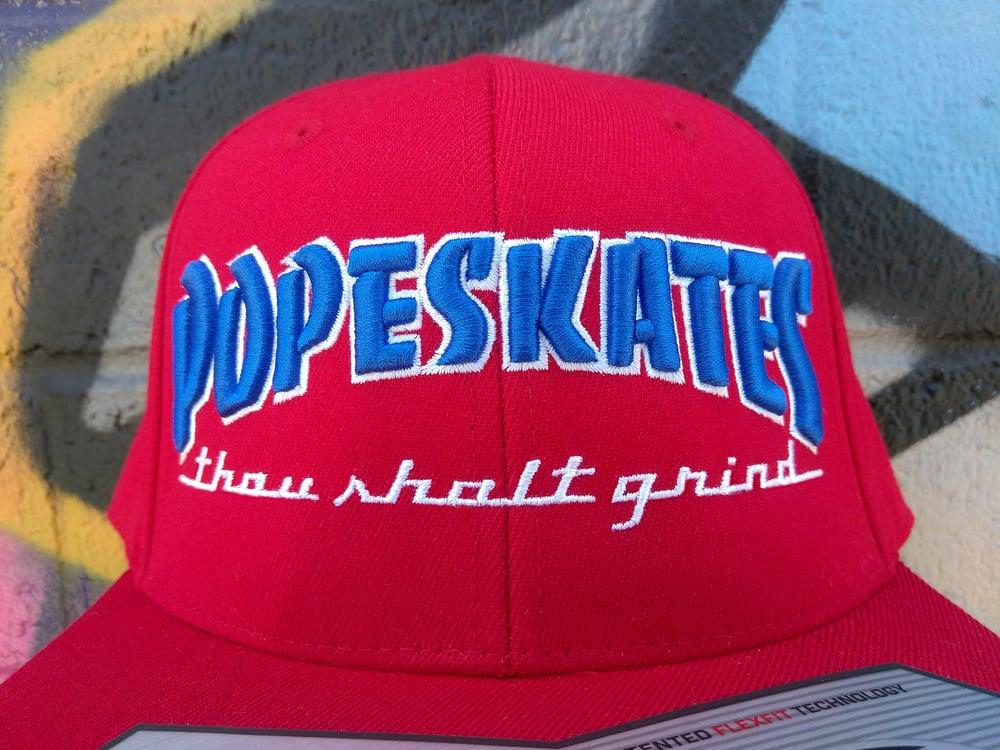 Image of Pope Skates Thou Shalt Grind Hat Red