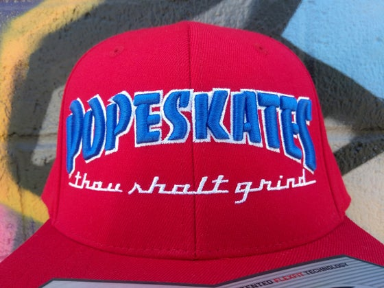 Image of Pope Skates Thou Shalt Grind Hat Red