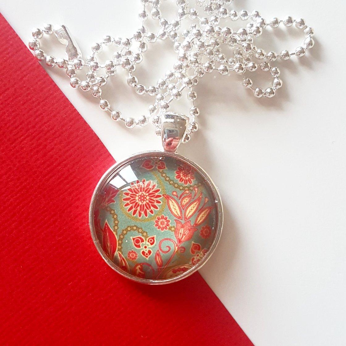 Image of 1inch pendant - Vintage Floral